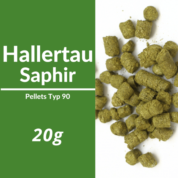 20g Hallertau Saphir Hopfenpellets P90