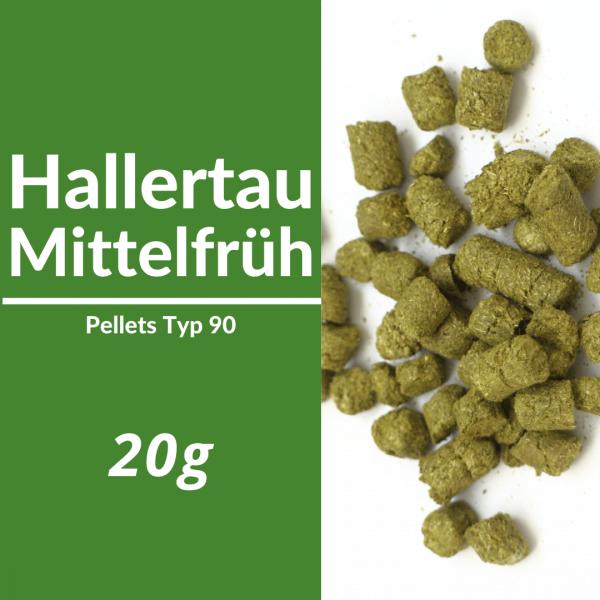 20g Hallertau Mittelfrüh Hopfenpellets P90
